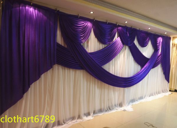 3m*6m wedding backdrop swag Party background cloth Curtain