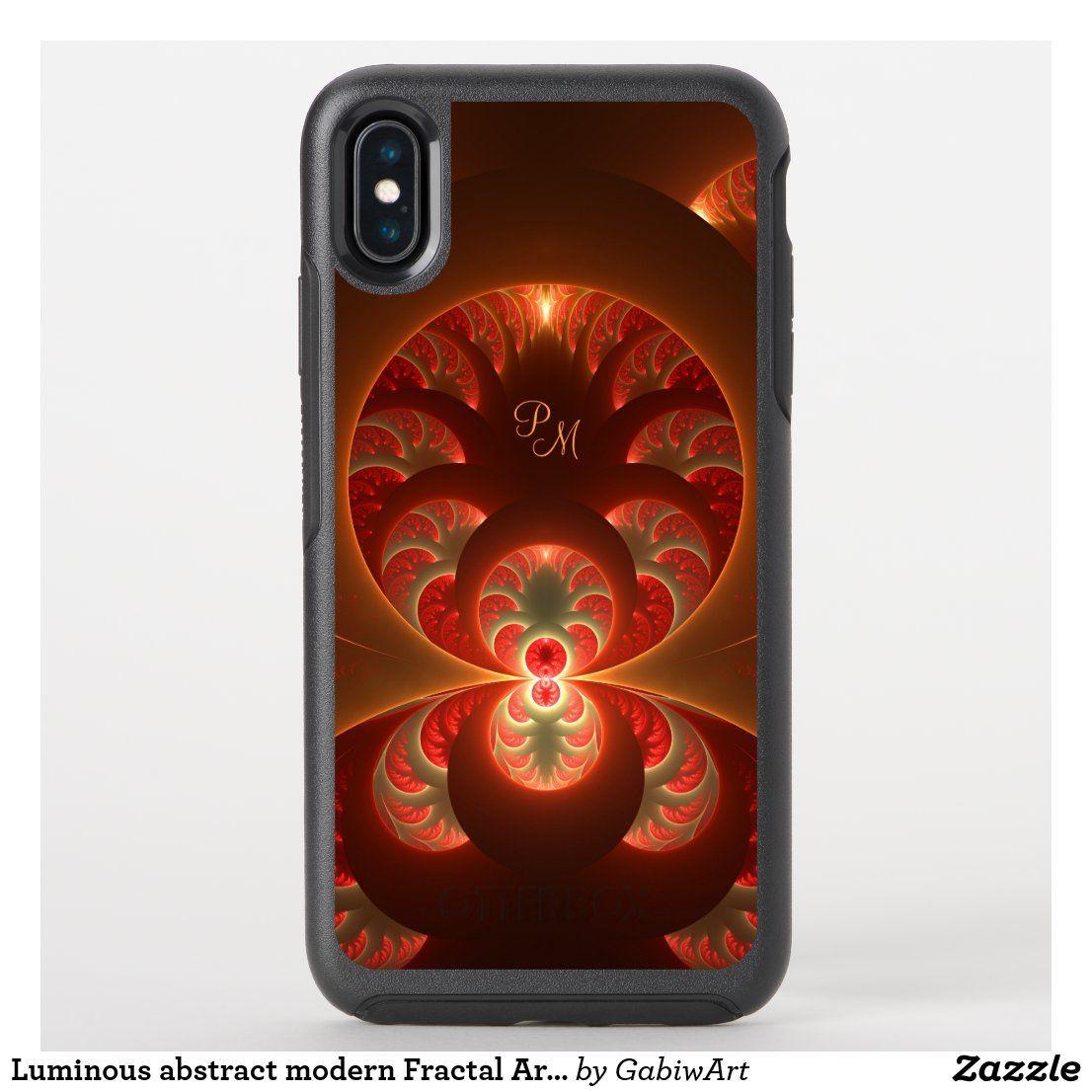 Luminous Abstract Modern Fractal Art Monogram Otterbox Iphone Case Zazzle Com Speck Iphone Cases Iphone Cases Otterbox Fractals