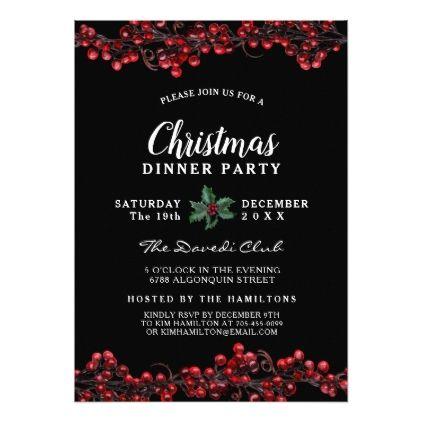 Bold and Festive Christmas Party Invitation - Xmascards ChristmasEve