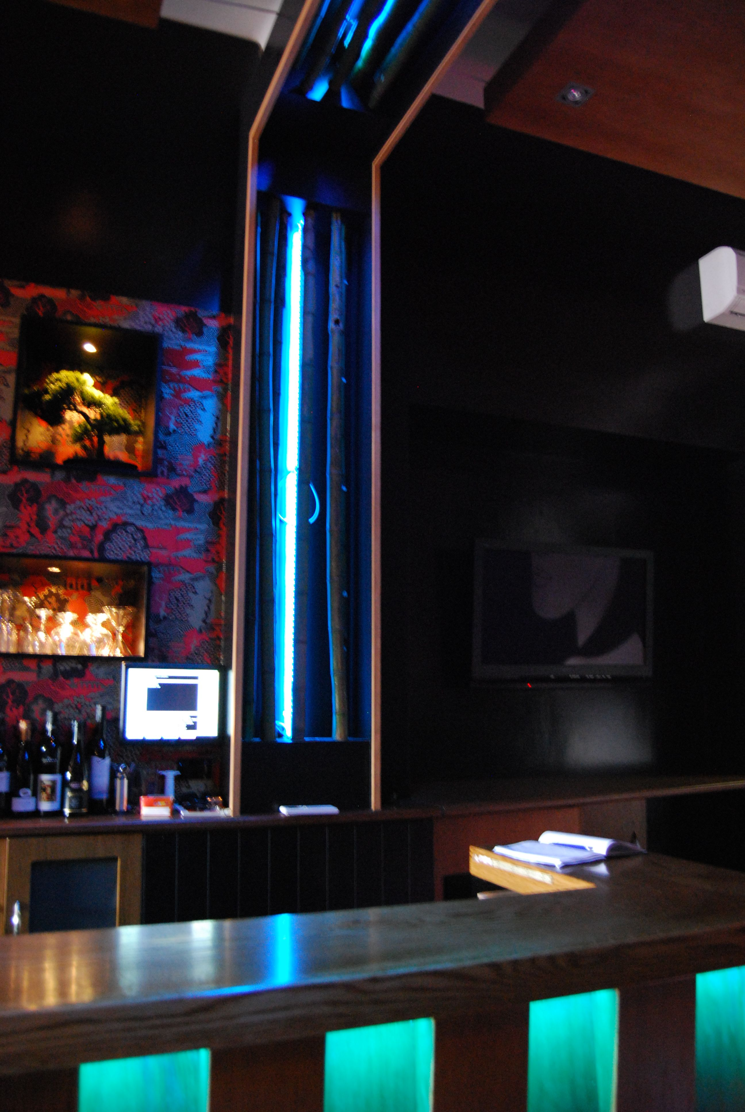 LED strips used to enhance the LED dance floor and bar area