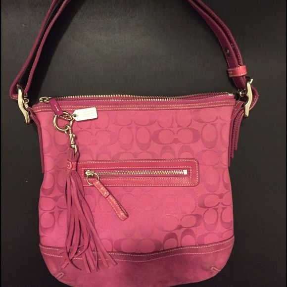 Coach shoulder bag Coach hot pink shoulder strap bag Coach Bags Shoulder Bags