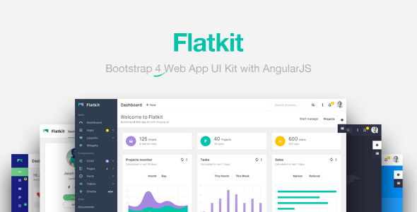 Flatkit aims to provide a beauty web ui kit for your next ...