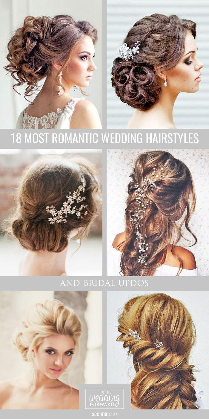 42 Wedding Hairstyles - Romantic Bridal Updos | Bun styles, Long ...