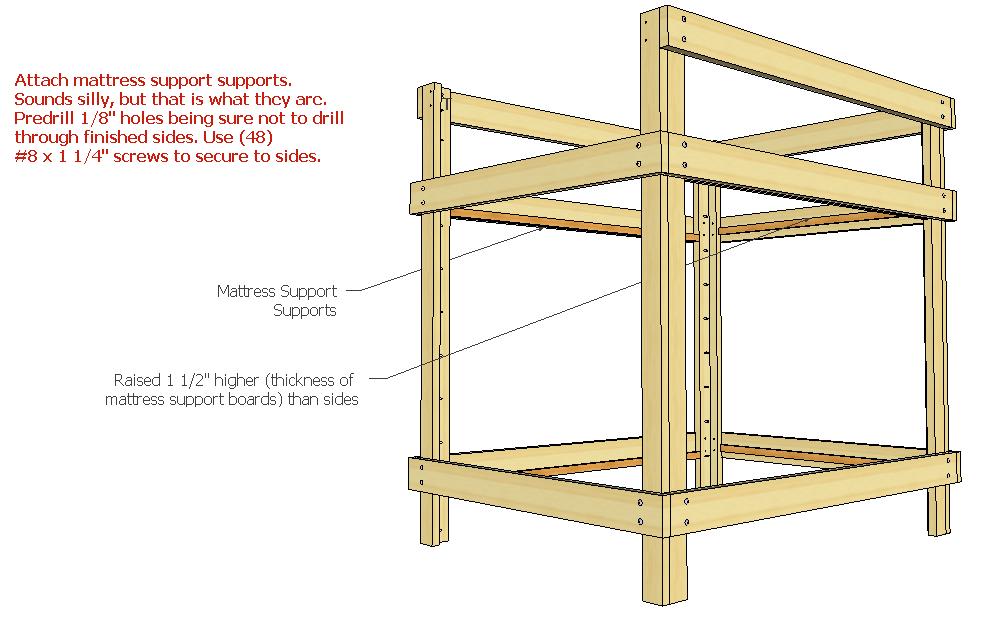 Making Full Over Queen Bunk Bed Plans PDF Download Diy