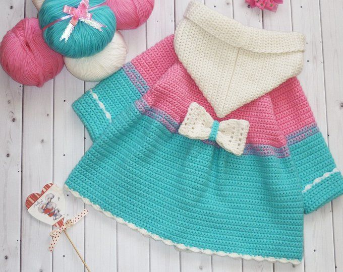Baby girl custom clothes. Toddler girls fall outfit: knit wool sweater, cute beanie girl. Colorful baby clothes. Girl hat sweater set winter