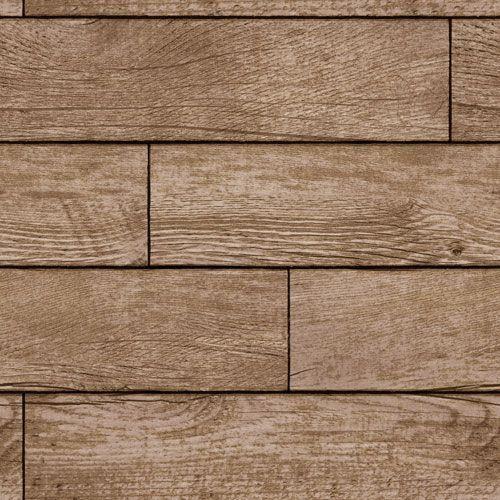Textured Wood Planks Light Chestnut Removable Wallpaper