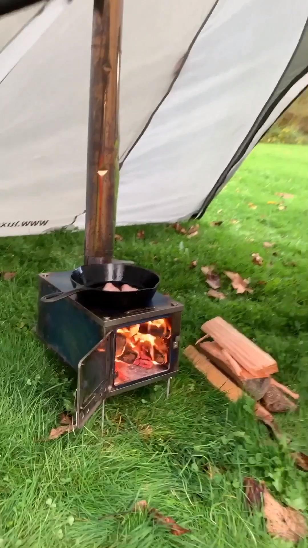3W Folding Wood Stove (Titanium) for Backpacking Tents#backpacking #folding #sto...  - fire pits #Backpacking #Fire #Folding #Pits #sto #Stove #Tentsbackpacking #Titanium #Wood #Bushcraft #camping #BushcraftCamping
