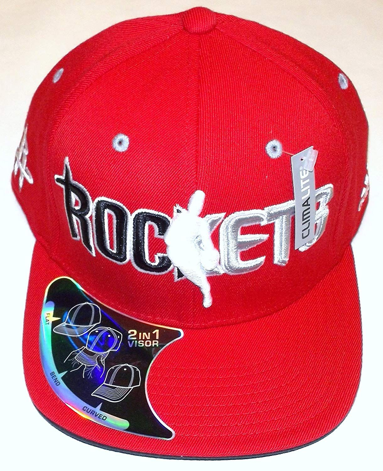 new products 07407 9a4ba NBA Houston Rockets 2 in 1 Visor Flex Adidas Hat - L XL,  12.99