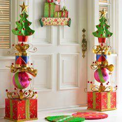 Decoraciones navide as con cajas de cart n caja de for Decoracion navidena para exteriores