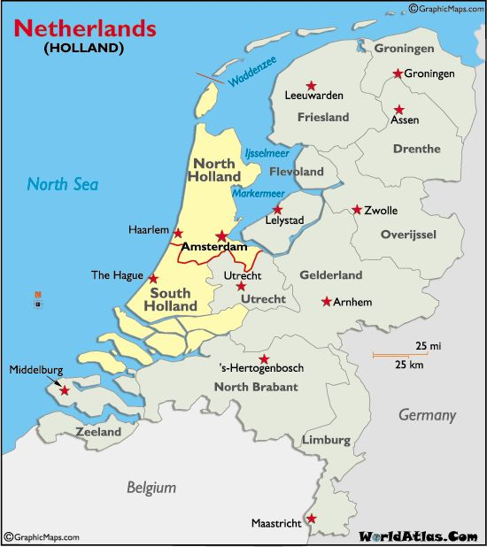 Map of Holland I have visited in Europe Pinterest Holland