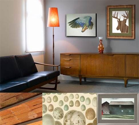 """""""Don a little deer antler with your mid-century sofa."""" -Art.com"""