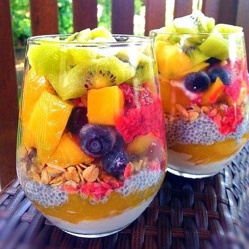 chia fruit bowls