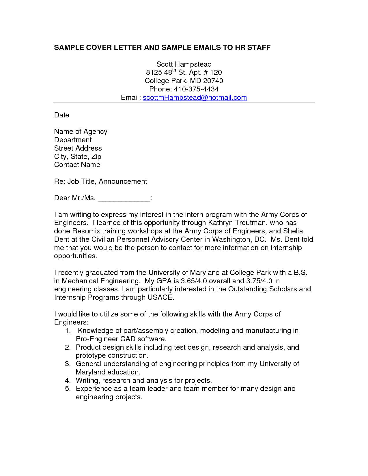 Mechanical Engineer Cover Letter Example  HttpWwwResumecareer