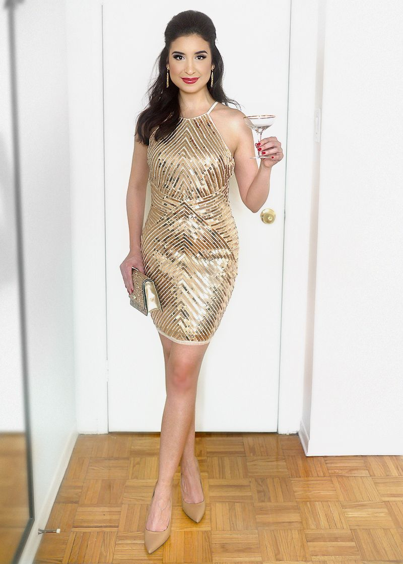 New Year's Eve Sequin Party Dress (With images) Sequin