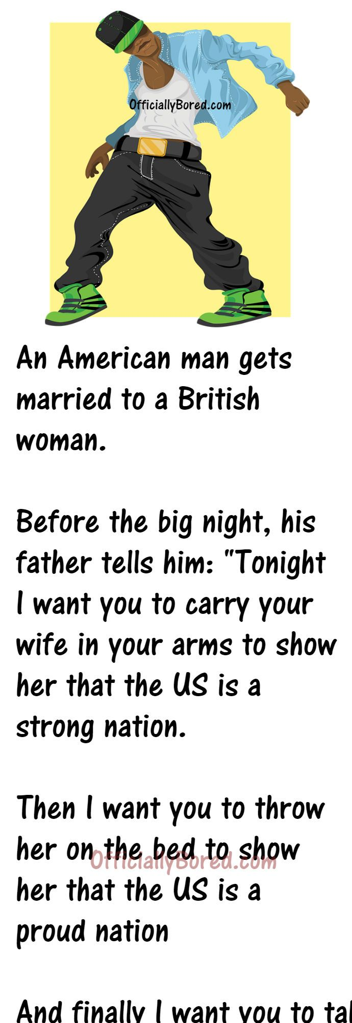 And Finally I Want You To Take Of Your Clothes To Show Her That The Us Is A Beautiful Nation After The Big Night The Father Asks In 2020 British Women