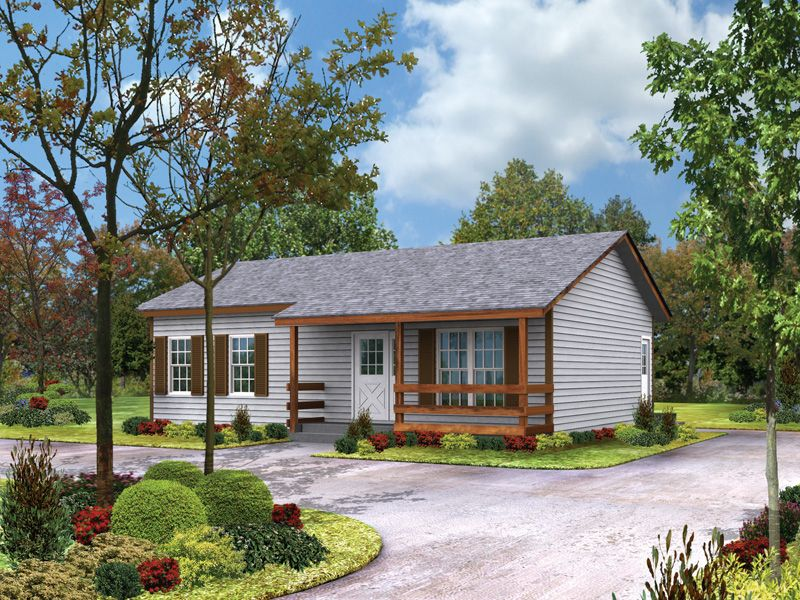 country plan front of home 001d 0040 house plans and more from houseplansandmore - Small Ranch Home