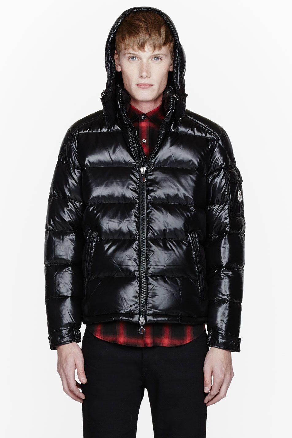 MONCLER Black quilted down Maya jacket Jackets, Moncler