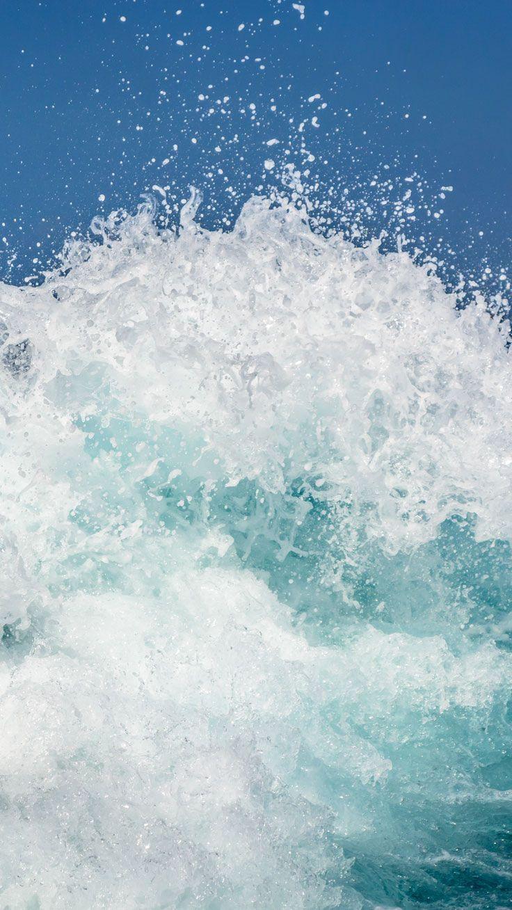 Splashing Wave Preppy Original 28 Free HD IPhone 7 Plus Wallpapers
