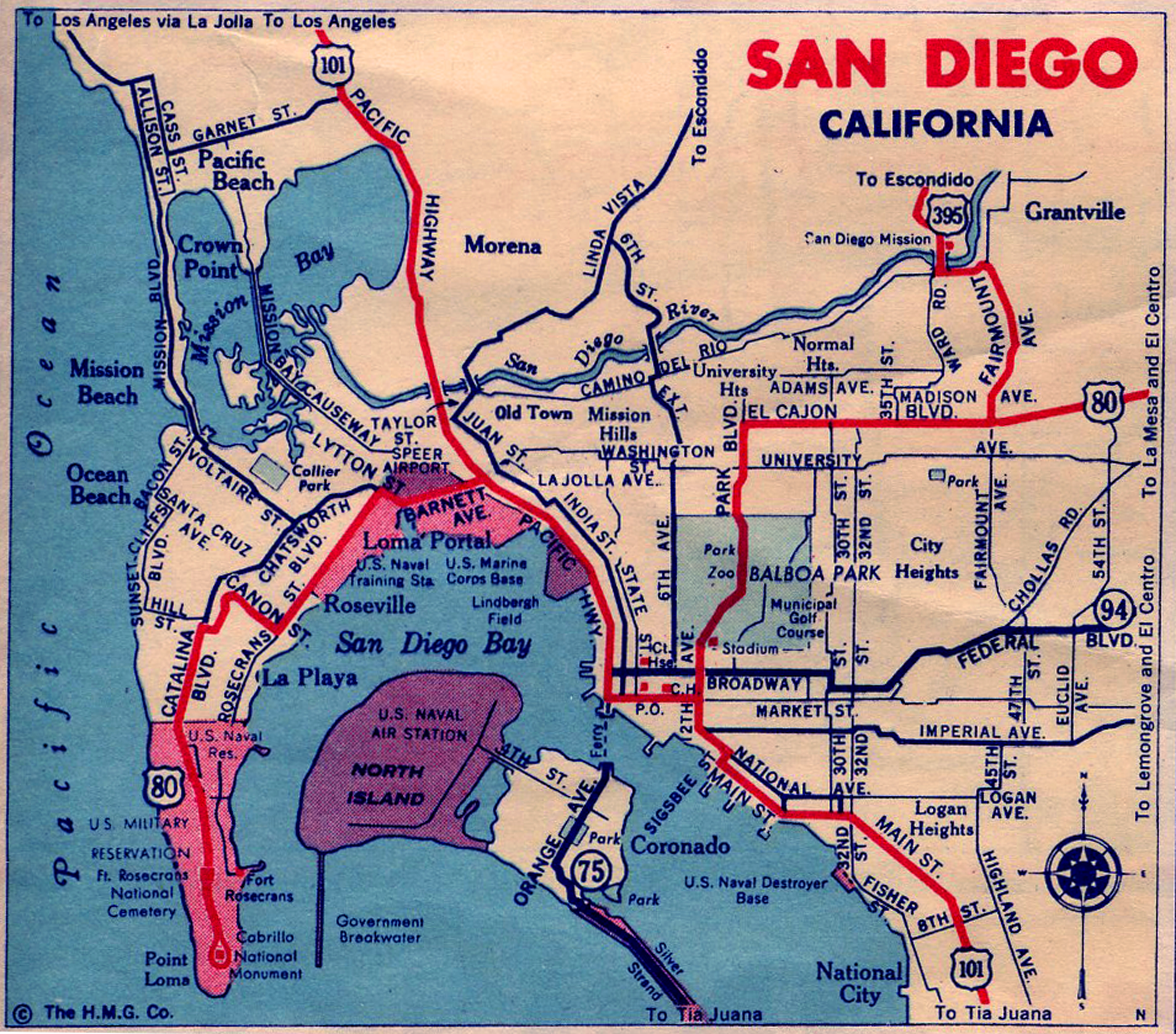 Map Of San Diego World Map October  City Heights CDC Route - Us map with cities and freeways