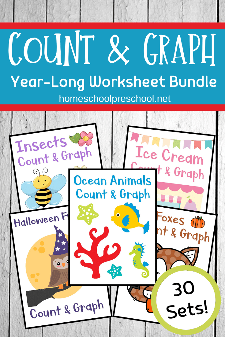 Year Long Count And Graph Bundle Math Activities Preschool Graphing Worksheets Graphing [ 1102 x 735 Pixel ]