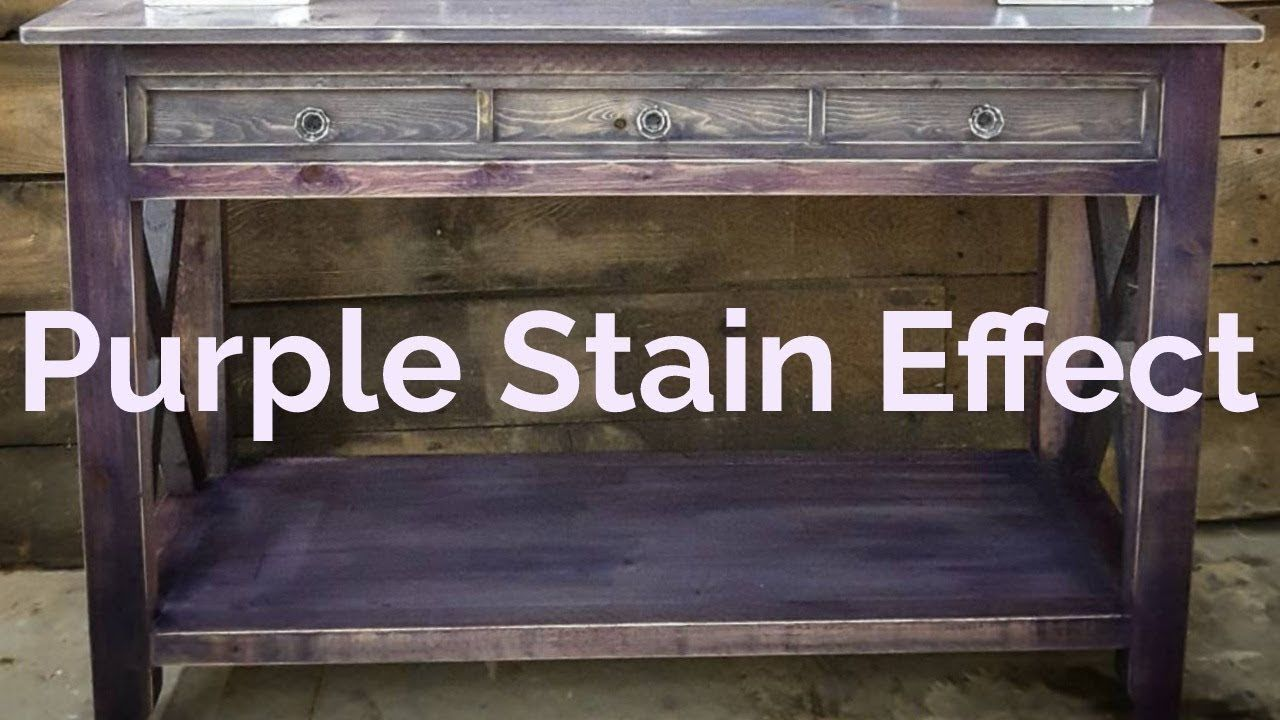 How To Create A Purple Stain Effect Youtube Purple Furniture Diy Wood Stain Purple Wood Stain
