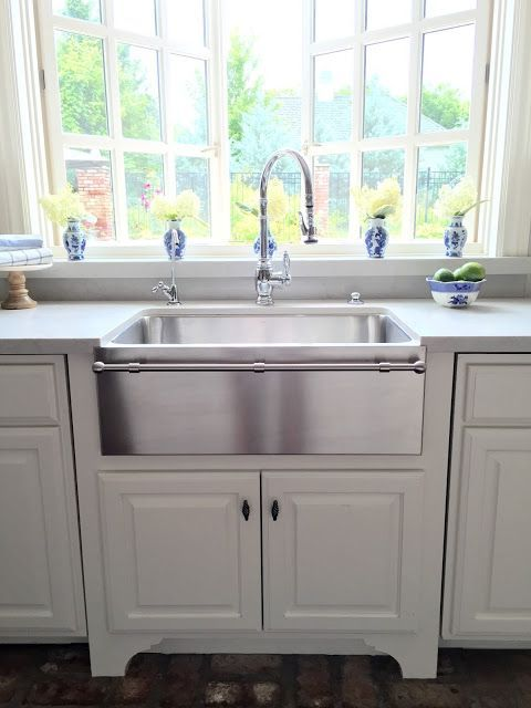 Eleven Gables Kitchen As Featured In Design Oklahoma Magazine Stainless Steel Farm House Sink With