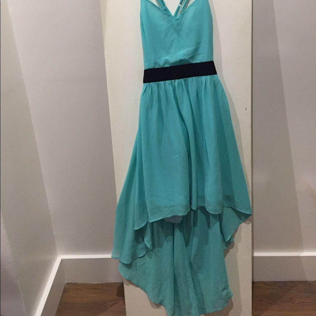 High-Low Backless Cross Strap Dress