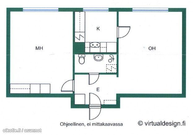 47,5m² Rukatunturintie 3, 00970 Helsinki Kerrostalo kaksio vuokrattavana | Oikotie 7973521