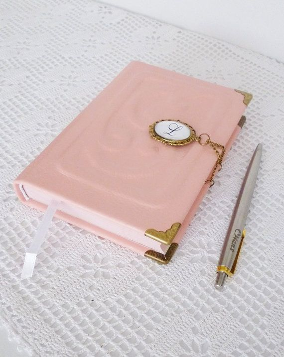 Pink Journal Personalized Leather Diary Custom by AnnaKisArt de37383bd