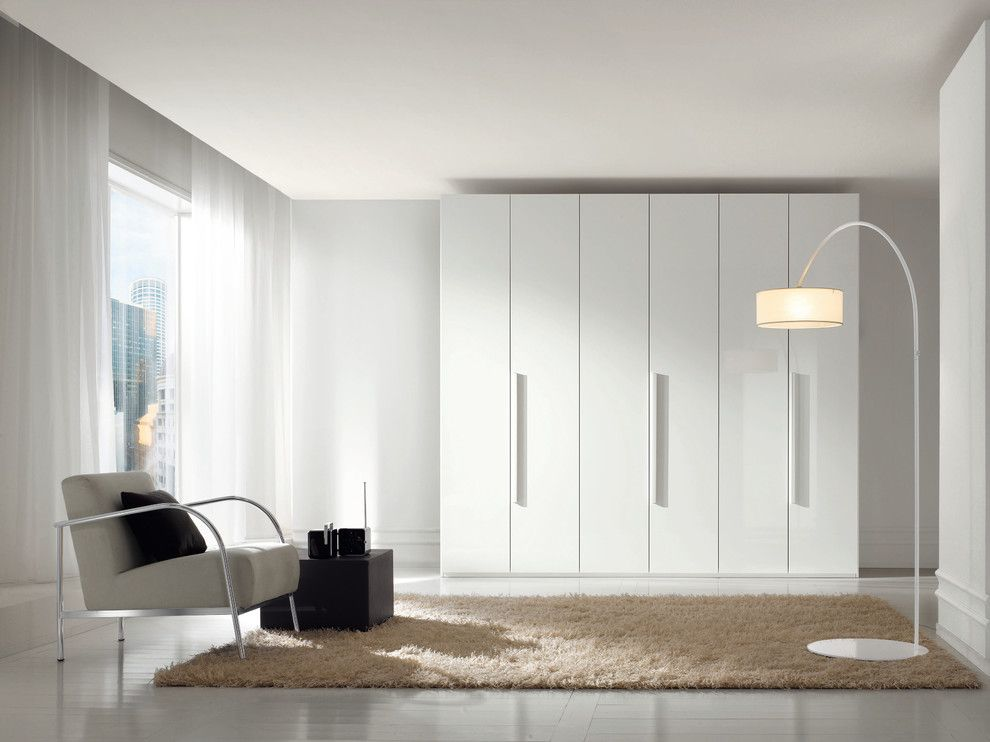 Europeo bedrooms  contemporary Living Room Other Metro Imagine Contemporary Elegant White Lacquered Wardrobe Closet bedroom