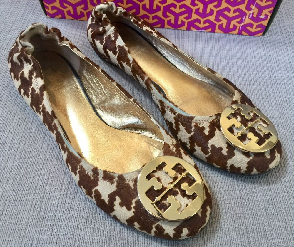 8df6742a61c Tory Burch Reva Houndstooth Calf Hair Ballet Flats Size 9.5M RARE  fashion   clothing  shoes  accessories  womensshoes  flats (ebay link)
