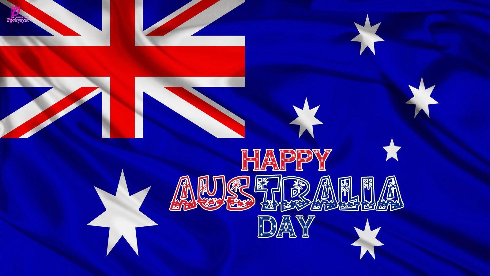 Australia Day 26 January Wishes On Australia Flag Wallpaper Happy Australia Day Australia Day Day Wishes