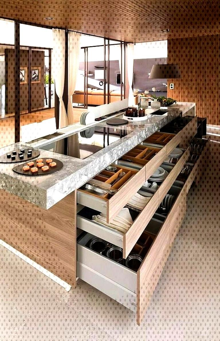 80 Awesome Modern Kitchen Island with Seating Ideas - Page 21 of 80