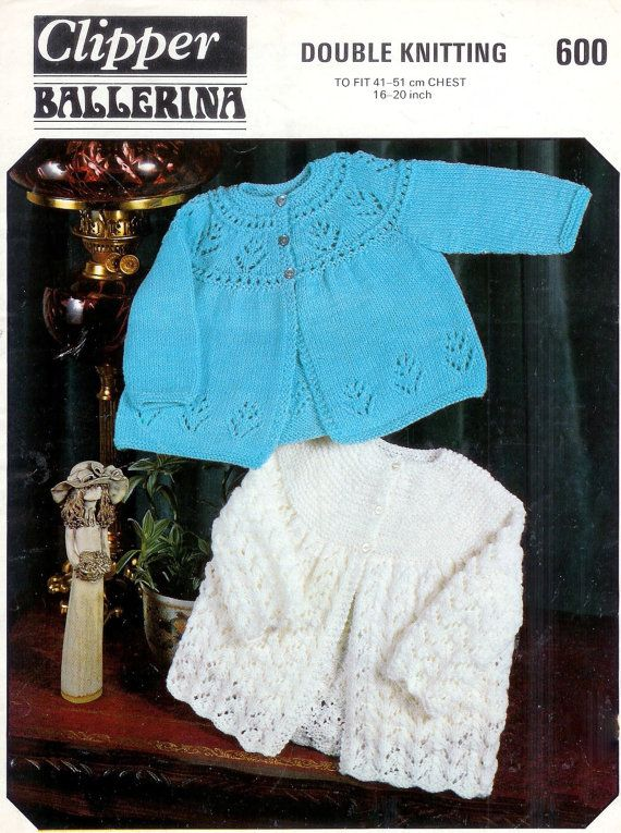 Baby Matinee Jackets 2 styles in Dk 8 ply for Sizes 16 to ...