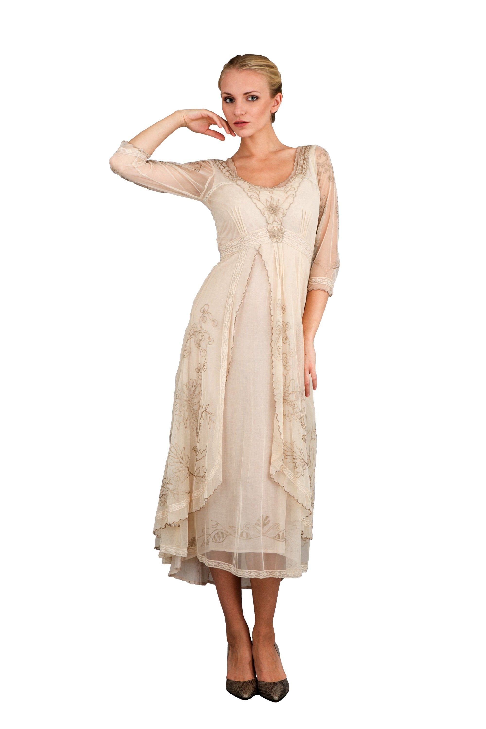 Downton Abbey Tea Party Gown in Pearl by Nataya | Vintage style ...