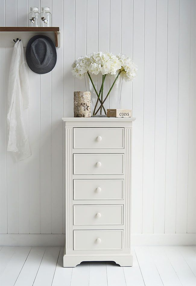 Rockport ivory tall chest of drawers ideal as living room - Ivory painted living room furniture ...
