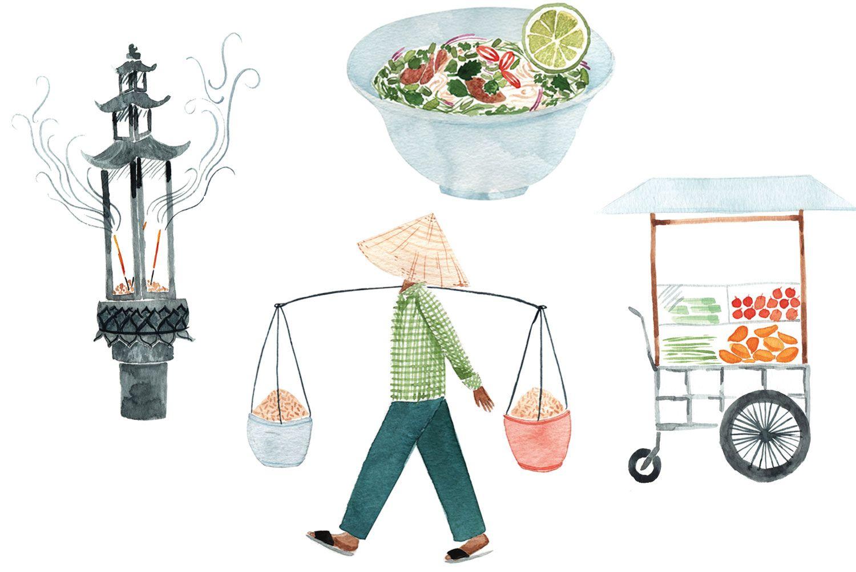 Kết quả hình ảnh cho saigon street illustration