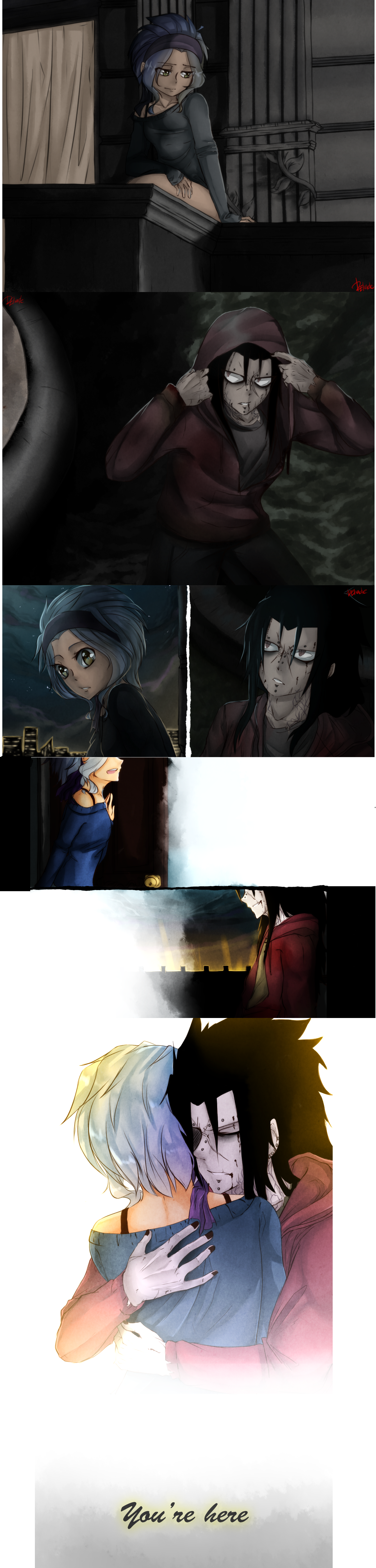 Gajeel and Levy zombie love<<< This is a scene from the movie Warm Bodies