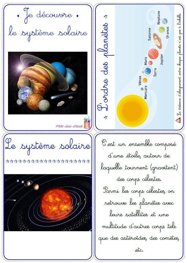 Le Système Solaire Cycle 3 : système, solaire, cycle, Épinglé, Ecole, School