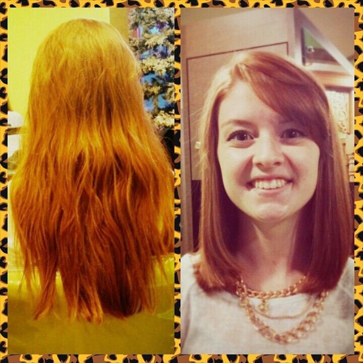 Cute cut before and after. By Kim
