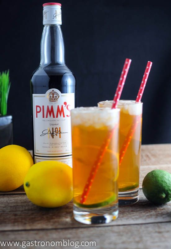Pimm's Cup Cocktail Recipe - Pimm's, Lemonade and ginger ale
