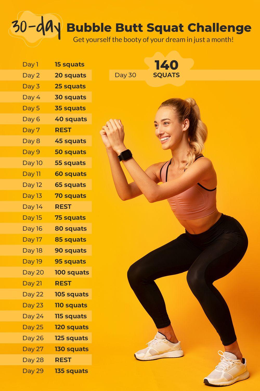 30-Day Squat Challenge 🍑