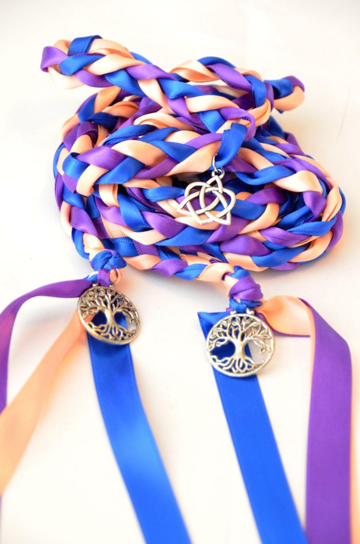 3 Charm Celtic Heart Knot Tree Of Life Wedding Handfasting Cord Irish Theme Divinity