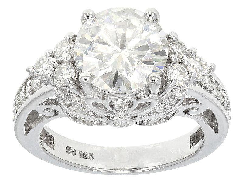 Moissanite Fire Tm 3 50ctw Diamond Equivalent Weight Round Platineve Tm Ring Moissanite Jewelry Online Jewelry Jewelry
