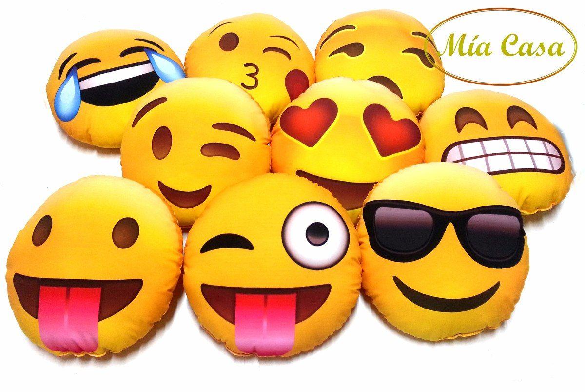 Almohadones Decorativos Con Caritas De Emoticones Emojis