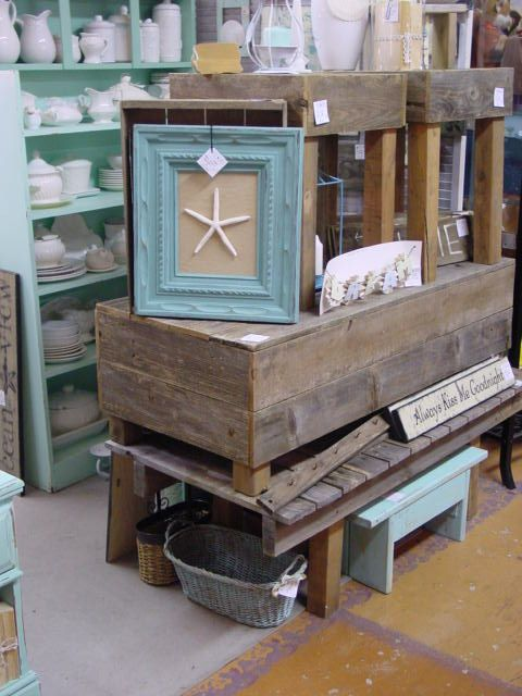 NEW IN MY BOOTH AT STARS  Rustic weathered wood beach furniture. NEW IN MY BOOTH AT STARS  Rustic weathered wood beach furniture
