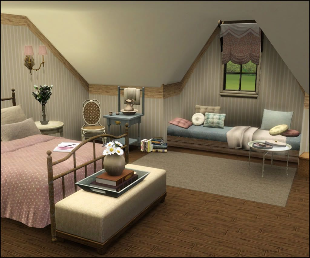Tutorial by missroxor on how to make vaulted ceilings in for Bedroom designs sims 4