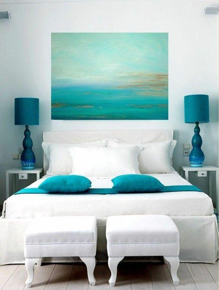 ▷ 1001+ designs stupéfiants pour une chambre turquoise Art to