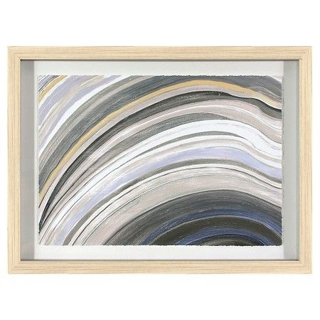 Framed Agate Abstract 24 X18 Threshold Target Grey Wall Art Blue Abstract Framed Abstract