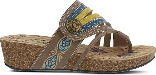 Spring Step Women's Claudia Footbed Sandals in Taupe. Comfort has a great  look with the Claudia Footbed Sandal from Spring Step.